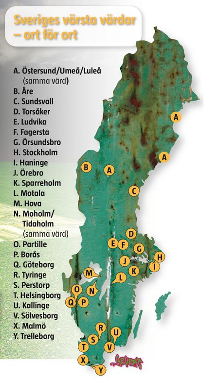 Radon Karta Boras.Karta Radon Sverige