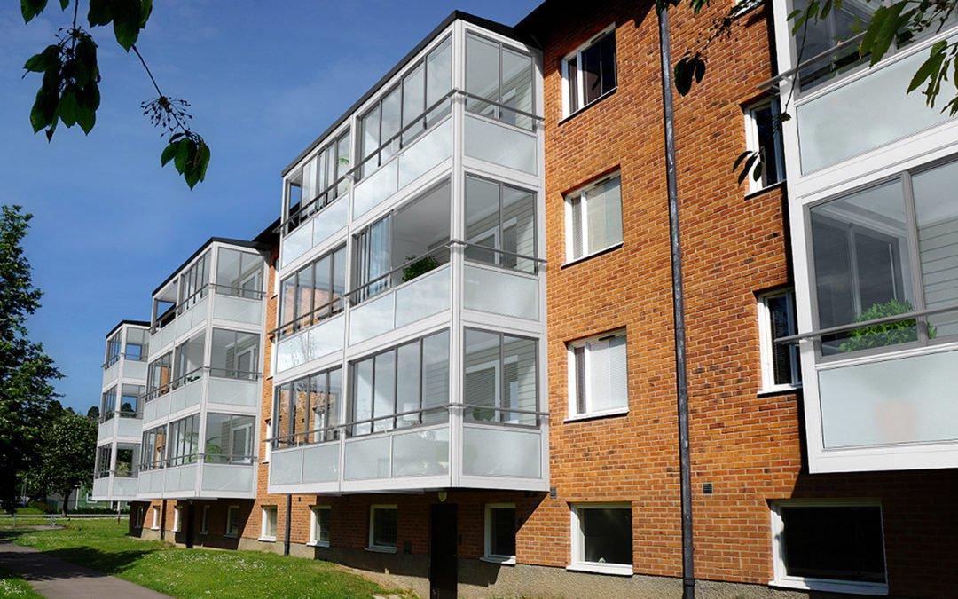 Nya balkonger ger höjd hyra Hem & Hyra