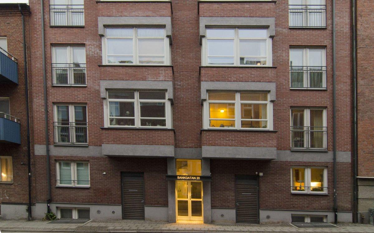 2018 är Bankgatan 20 en adress främst för pensionärer.