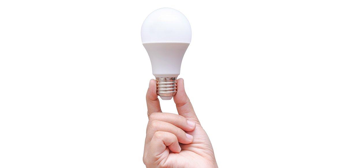 En glödlampa som ger bra ljus