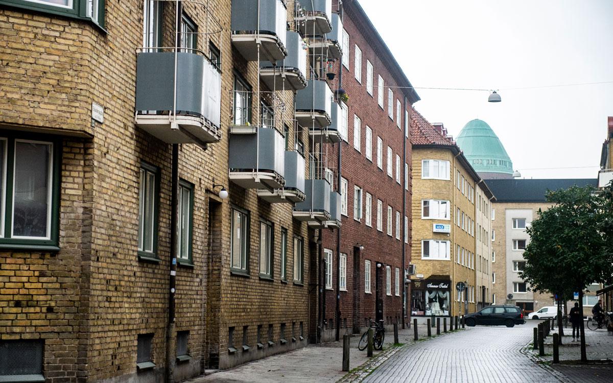 Två av Heimstadens fastigheter på Möllan där hyresvärden krävt bruksvärdering.